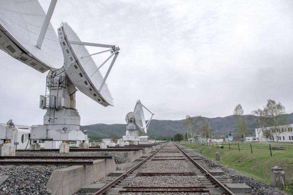 野辺山宇宙電波観測所 ミリ波干渉計 線路