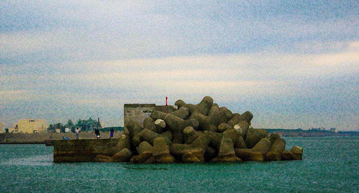 漁港の桟橋